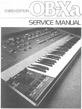 Oberheim OB-Xa Service Manual